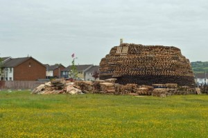 Bonfire 'The Beast' had to be moved over fears for nearby houses in Ballyduff