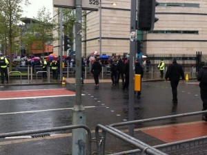 Anti-G8 protestors gather in Belfast ahead of Waterfront Hall visit by Barack Obama
