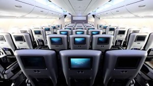 The interior of the new A380