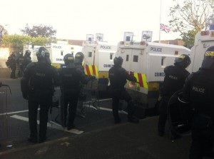 Police move in to enforce Parades Commission decision