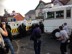Water cannon used in Ardoyne on Friday evening