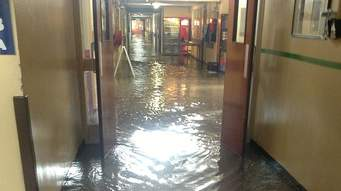 COPYRIGHT:donegaldaily.com The flood damaged Letterkenny hospital