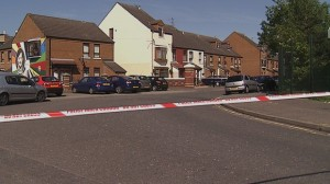 Homes were evacuated in the Markets district of south Belfast during a security alert