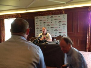 Celtic manager Neil Lennon at his press conference
