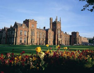 Queen's University Belfast is being hit by 24 hour strike by lecturers and support staff