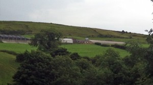 The farm on which Aaron McAuley died after falling from farm machinery outside Castlewellan