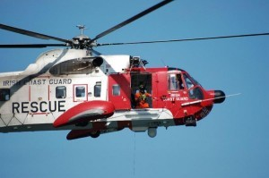The 118 Irish coastguard rescue helicopter was involved in the rescue yesterday