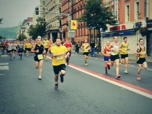 Runners taking part in Belfast's half marathon on Sunday
