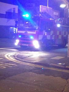 Fire crews at the scene of a fire at a school in Derry on Wednesday night