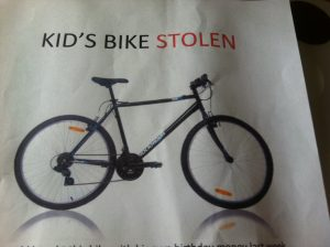This is the black mountain bike stolen from a ten-year-old's home in Bangor last week