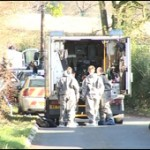 Army bomb squad make safe a CIRA mortar launching tube in Lurgan in 2007