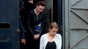 Michaella McCollum Connolly and Melissa Reid arrive for court on Tuesday evening