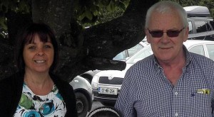 Patricia Kierans who Gardai believe was blasted to death by her estranged husband Oliver (right)
