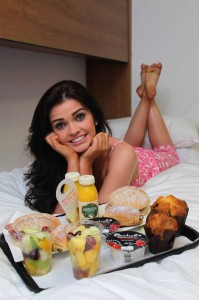 Anna Henry enjoys breakfast in bed on the Irish Sea courtesy of leading ferry company Stena Line'