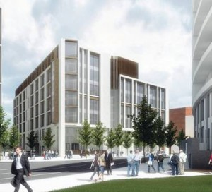 An artist's impression of the £20 million finanical hub in Belfast's Titanic Quarter