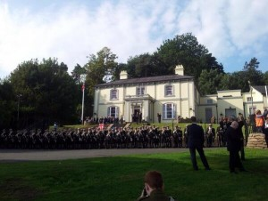 Formation parade at Fernhill House on Saturday