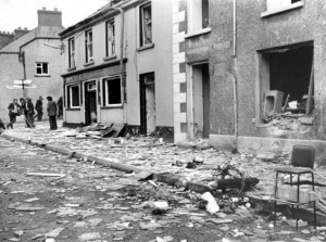 The devastating aftermath from the IRA bomb attack in Claudy, Co Derry