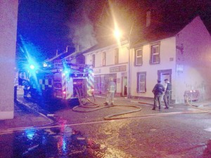 The scene of the gas leak in Derry's Bond Street on Monday night