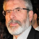 Sinn Fein president Gerry Adams being quizzed ovr Jean McConville