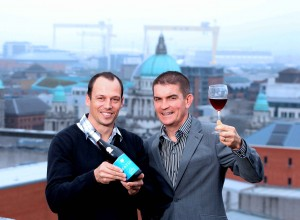 FROM DOWN UNDER TO ON TOP OF THE WORLD... Gareth Bradley managing director of Woodford Bourne NI  (right) announced that the Matua wine brand has seen a growth of 23% year to date in Northern Ireland as its Chief Winemaker Nikolai St George (left) was in Belfast recently to re-launch the brand in the province.