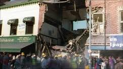 The aftermath of the Shankill bomb in which nine innocent people died in 1993
