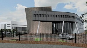 An artist's impression of how the new performing arts centre in Bangor will look