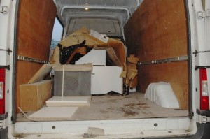 The van McPhillips used to transport the £800k of cannabis