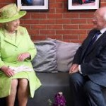 The Queen with Irish President Michael D Higgins during her visit to the Republic in 2011