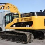 A Caterpillar 345 digger similar to this one was  burned out in Comber on Sunday