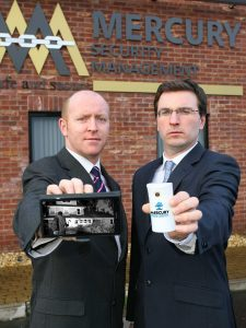 BURGLARS BEWARE:  Mercury Security directors Francis Cullen (left) and Francis Cullen launch the company's new Mercury Home Watch system which it believes to be a potential solution to the serious problem of domestic burglary in Northern Ireland.