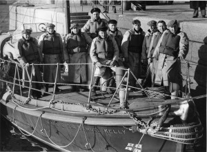 Coxswain Hugh Nelson and RNLI crew in 1953. Pic: Courtesy of RNLI
