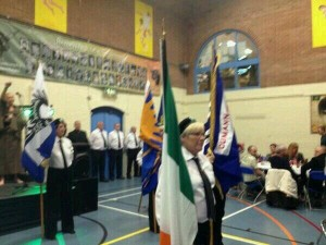Republican colour parties at Whiterock Leisure Centre on Saturday