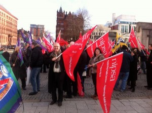 NIPSA Protest Belfast City Hall