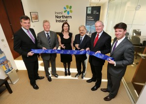 Peter Robinson and Martin McGuinness pictured with Mayor of San Francisco, Edwin Lee at the opening of the Invest NI office in San Francisco.  Pictured (left to right) Alastair Hamilton, Invest NI CEO, Aine Brolly, Senior Vice President of Business Development West Coast, Invest NI, Edwin Lee, Mayor of San Francisco, and Gary Hanley, Senior Vice President, North America, Invest NI. PIC:   Kelvin Boyes/PRESSEYE