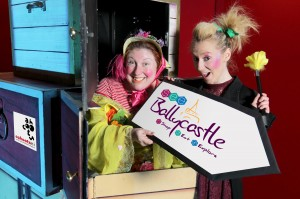 Christina Nelson and Nicola Cunningham of Cahoots NI children's theatre company along with Ballycastle Town Partnership