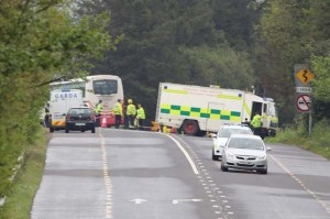 The scene of yesterday's fatal crash near Newtowncunningham. (Photo: NW Newspix)