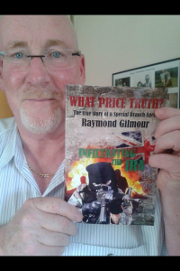 Scots reader with a copy of Gilmour's book 'What Price Truth?'