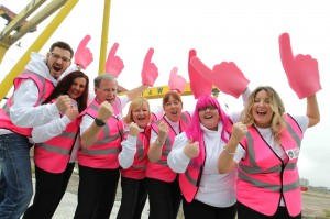 It's this way to the Giro d'Italia... Will Vicente, Nadene Alexander, David Livingstone, Gillian Gilliland, Pleasaunce Perry, Karolyn Gaston and Lorna Bolster are just some of the 1,200 volunteers signed up to help with the Giro d'Italia