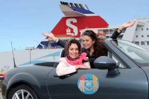 Models Zara and Gail, aka BFFs Thelma and Louise, are delighted to hear that leading ferry company Stena Line are designating this 'Best Friends Forever (BFF) Month' as one of them will get to travel for free.