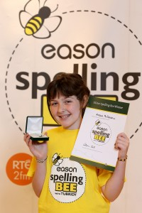 Amelia McDowell aged 11 from St. Therese of Lisieux Primary School, Belfast was named the best speller in Ulster at the Eason Ulster Spelling Bee Final today!  PIC BY MATT MACKEY/PRESSEYE