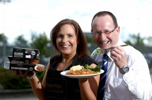 TASTE OF SUCCESS: Musgrave Retail Partners Trading Manager Julie Cherry and Fresh Food Specialist John Kearney are pictured at the launch of Musgrave's new range of premium high quality 'Dine In' meal solutions called 'Signature Tastes'