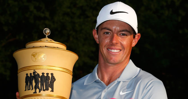 Rory McIroy with the WGC Championship - now he is being accused of erasing vital information from mobile phones