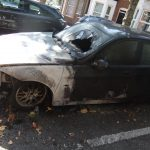 Cars torched