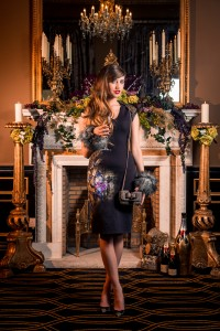 Style Academy model, Kristen Gillespie gets a taste of new season style at The Merchant, ahead of the hotel's decadent Fashion Teas