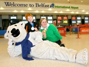 Pictured left to right: Special Olympics Ulster athletes Jonathan McCartney and Lucy Best.
