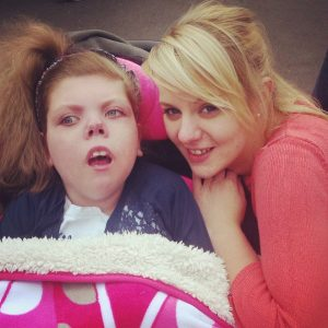 Lynda McCance and her 'little Angel' Chloe who passed away earlier this month
