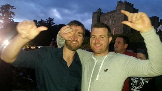 Patrick (left) and Barry Lyttle in happier times before assault in Sydney