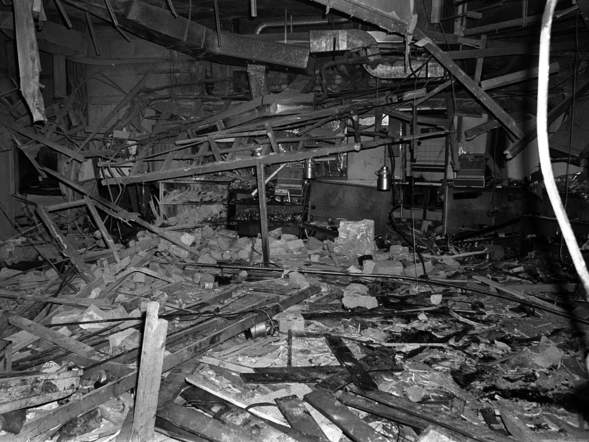 The aftermath of the IRA pub bombing at the Mulberry Bush pub in Birmingham in 1974