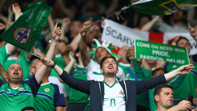 Northern Ireland fans singing their hearts out in Paris with 'Will Grigg's On Fire'