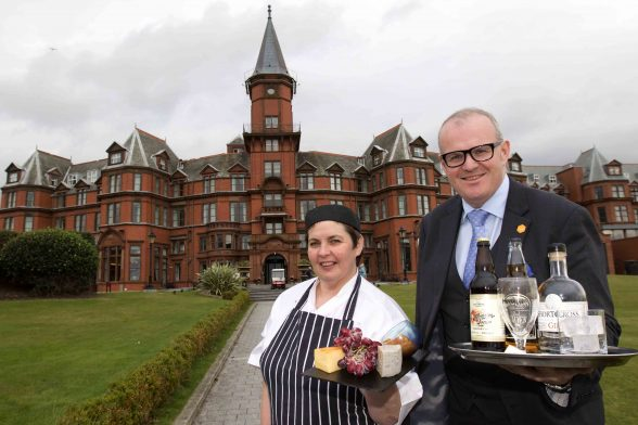 Hazel Magill, Head Chef at Slieve Donard Resort and Spa and general manager, Stephen Meldrum are looking forward to welcoming some of County Down's finest food and drink artisanal producers to the hotel on October 29th for the inaugural Slieve Donard Beer, Cider, Spirit and Cheese Festival.